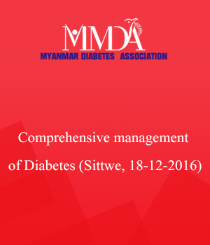 Comprehensive management of Diabetes (Sittwe, 18-12-2016
